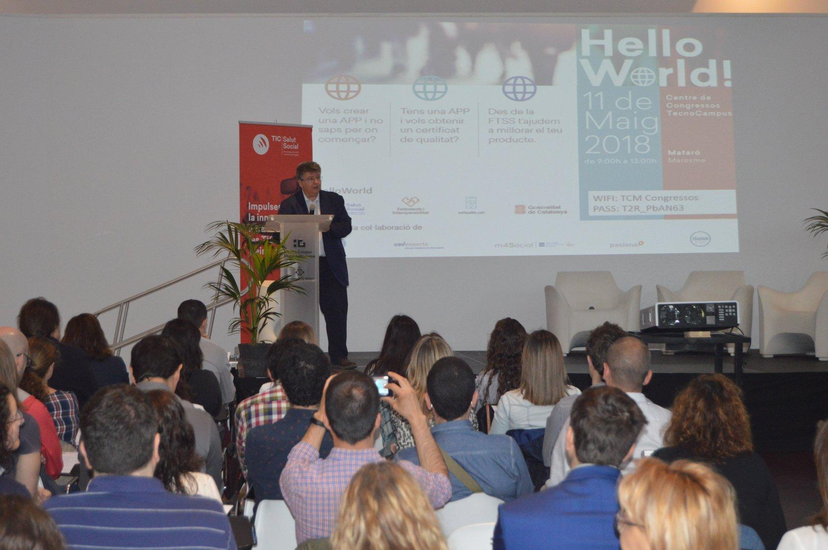 La Fundació TIC Salut Social ayuda a crear apps de salud y bienestar de confianza, en la Jornada Hello World!