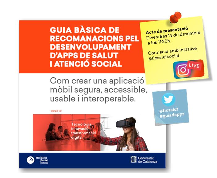 Presentació de la Guia bàsica de recomanacions per al desenvolupament d'apps de salut i atenció social