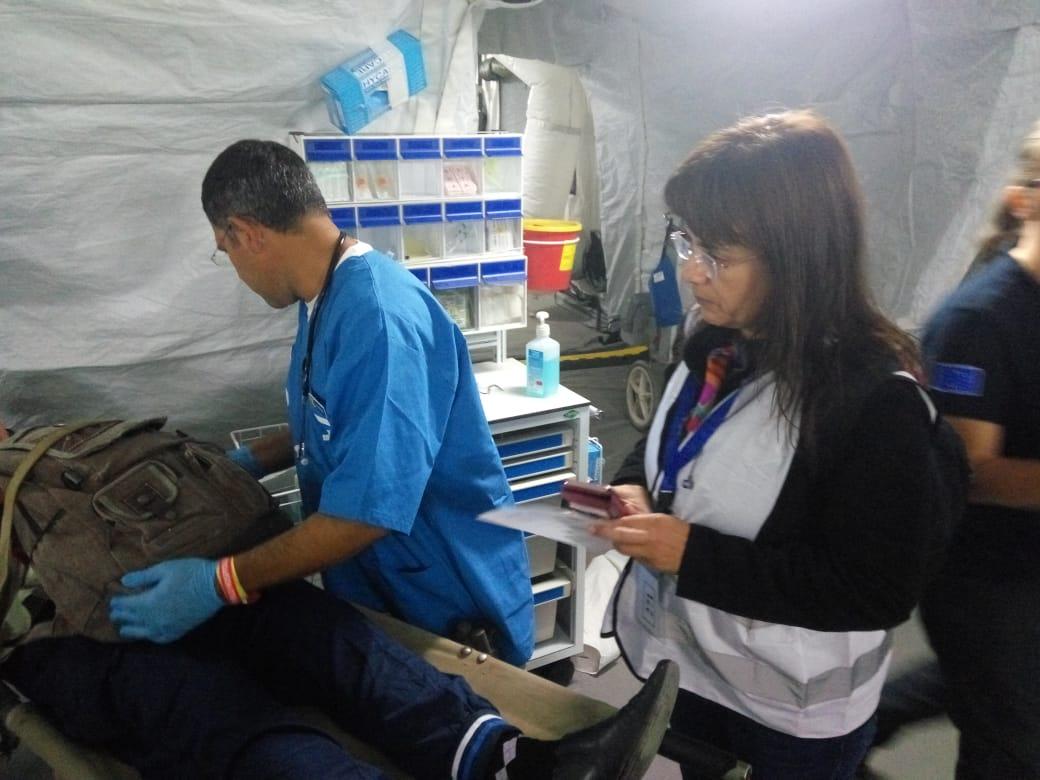Trillium II participates in a natural disaster simulation exercise