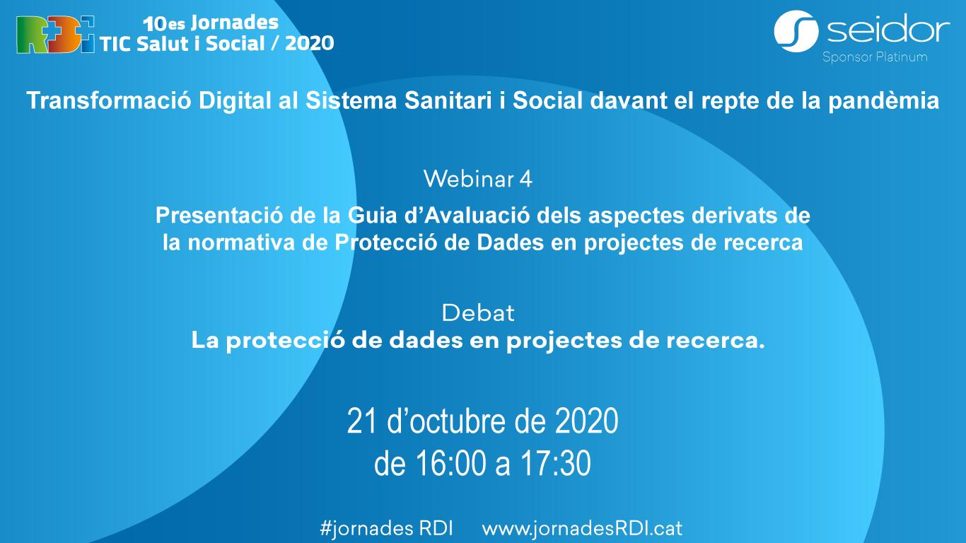 10es Jornades R+D+I TIC Salut i Social: Webinar 04